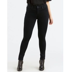 Levi's mid rise skinny black jeans size 12
